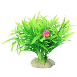 10cm Aquarium Artificial Plastic Plants Small Leaf Ornament