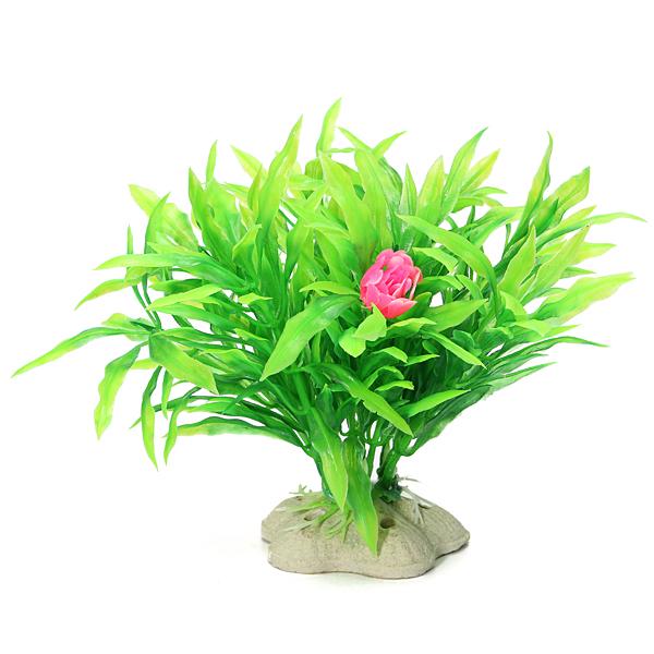 10cm Akvarium Artificiell Plast Växter Små Blad Julgrans Husdjurstillbehör