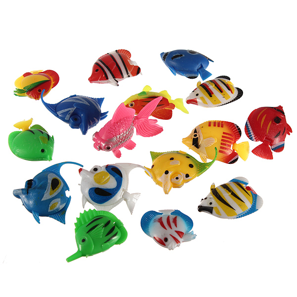 10pcs Plastic Colorful Imitated Fish Aquarium Fish Tank Decoration Pet Supplies