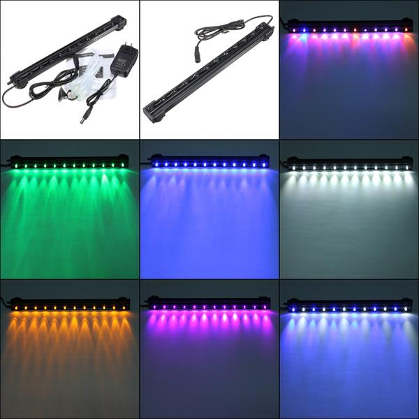12 LED Waterproof Aquarium Bar Light Air Bubble Lamp Pet Supplies