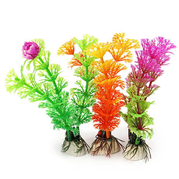 12cm Aquarium Plastic Artificial Grass Plants Landscaping Decoration Pet Supplies