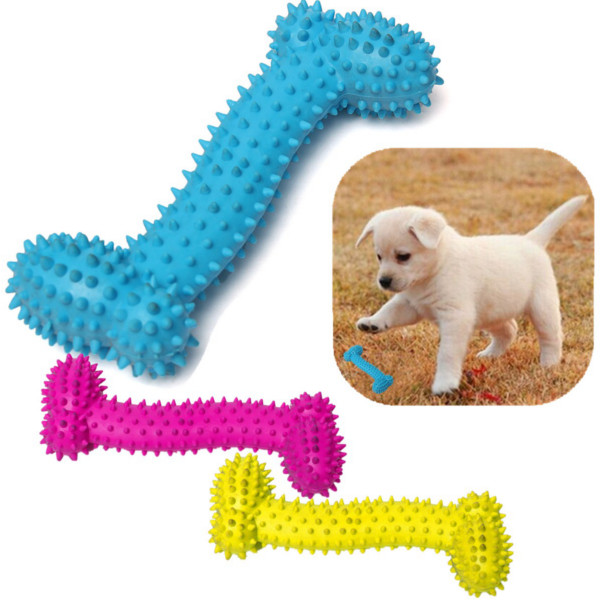 16cm Pet Dog Bone TPR Rubber Bite Resistant Teeth Cleaning Chew Toy Pet Supplies