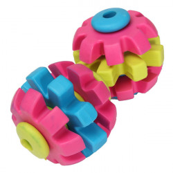 3 Floor Colorful Pet Dog Slide Gear Molar Teeth Cleaning Chew Toy