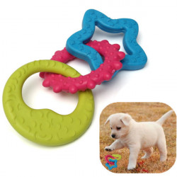 3 In 1 Moon Star Sun Pet Dog Cat Rubber Dental Teething Chew Play Toy