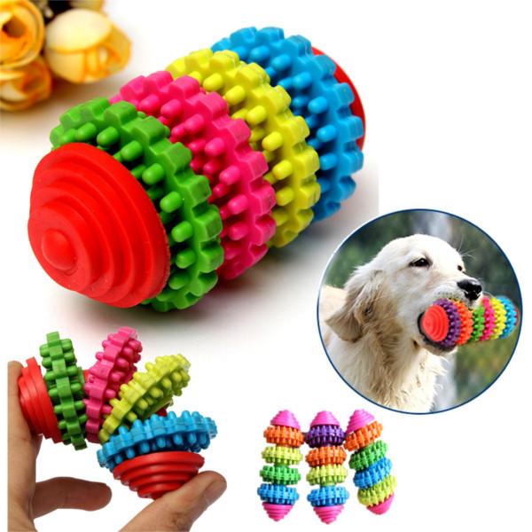 4 Etage Bunte Hund Slide Getriebebackenzähne Reinigungs Kauen Spielzeug Haustierzubehör
