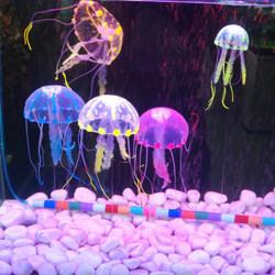 5 cm Kunst Silikon Vivid Quallen Für Fisch Aquarium Dekoration