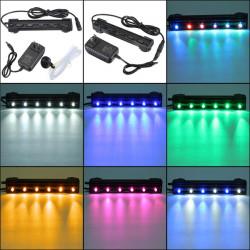 6 LED 12CM Waterproof Aquarium Bar Light Air Bubble Lamp
