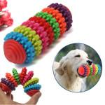 7 Etage Bunte Hund Slide Getriebebackenzähne Reinigungs Kauen Spielzeug Haustierzubehör