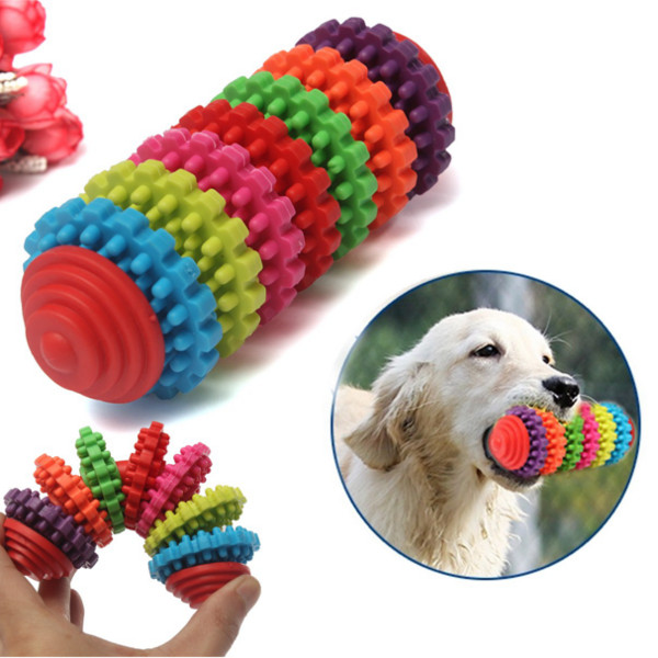 7 Floor Colorful Pet Dog Slide Gear Molar Teeth Cleaning Chew Toy Pet Supplies