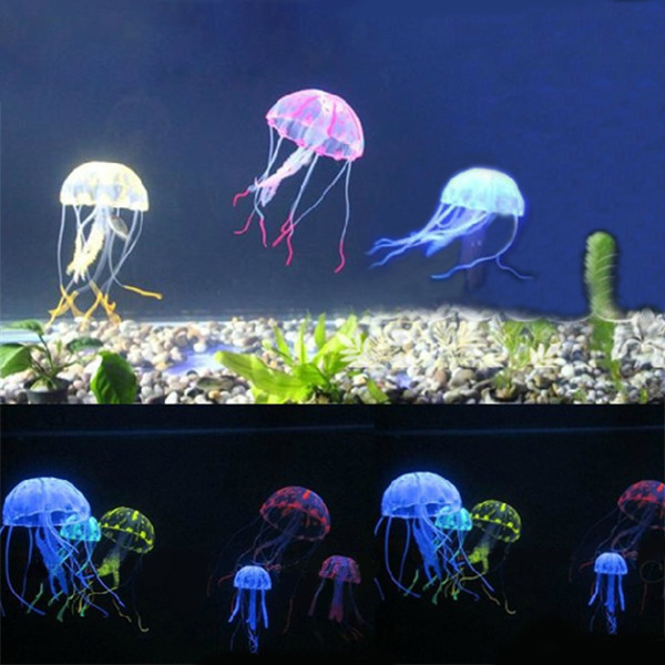 8,5 Cm Artificiell Silikon Vivid Maneter för Fisk Akvarium Dekoration Husdjurstillbehör