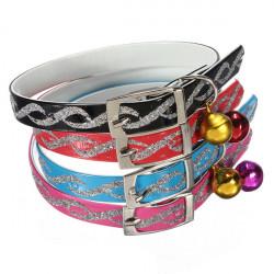 Adjustable Husdjur Hund Katt Safety Halsband med Reflekterande Necklet Bell