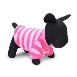 Entzückende bunte Streifen Hund Bunte Hemden