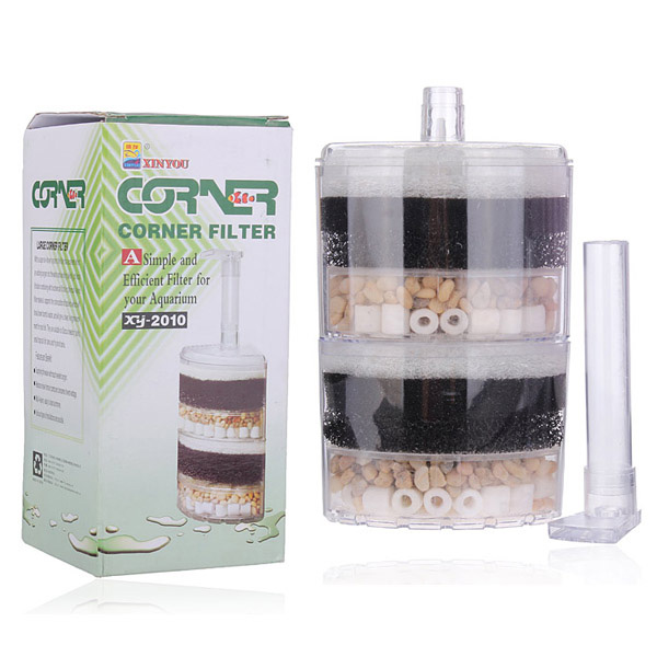 Air Driven Corner Sponge Filter Fry Shrimp Fish Aquarium Tank Pet Supplies