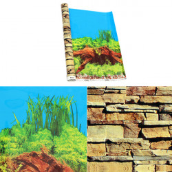 Aquarium Background Double Sided Poster Decoration For Fish Tank