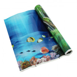 Aquarium Double Sided Landscape Poster Fish Tank Background Decoration