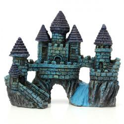 Aquarium Fish Tank Blue Castle Decoration