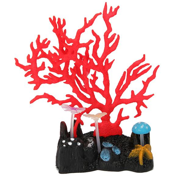 Aquarium leuchtende Korallenbaum Pflanze Dekoration Haustierzubehör