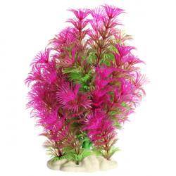 Akvarium Lila Grön Artificiell Vattenväxt Dekoration