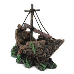 Aquarium Fish Tank Shipwreck Lost Cruise Ship Decoration