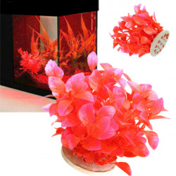 Aquarium Plastic Fish Tank Red Plants Decoration