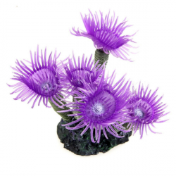 Akvarium Lila Artificiell Sea Anemone Coral Akvarium Ornament