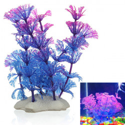 Artificial Plastic Underwater Plant Flower Aquarium Ornament