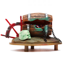 Barrel Of Jewels Action-Air Aquarium Ornament