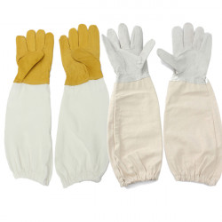 Biodlare Skyddande Getskinn Vented Långärmat Biodling Handskar