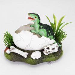 Big Dinosaur Hatching Action-Air Aquarium Ornament