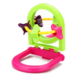 Bird Toy Paddle Wheels With Mirror And Perch