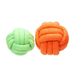 Candy Color Bomull Stickad Boll Tuggleksak för Husdjur Hundar Katter