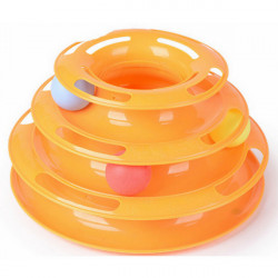 Cat Kitty Interactive Amusement Plate Plastic Ball Disk Pet Toy