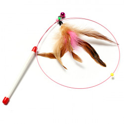 Cat Pet Toy Single Rod One Feather Attachment