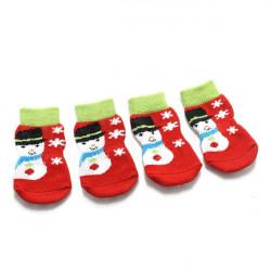 Weihnachtsschneemann Muster reizende Haustier Socken Weihnachten Hundesocken