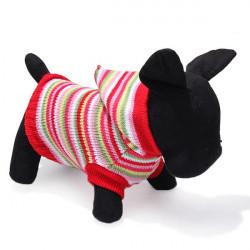 Bunte Streifen Hund Strickatmungsaktiv Warme Pullover Outwear Winter
