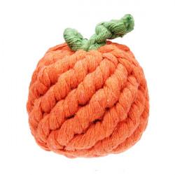 Baumwoll Strick orange Design Kauen Spielzeug spielen Haustiere Hunde Katzen