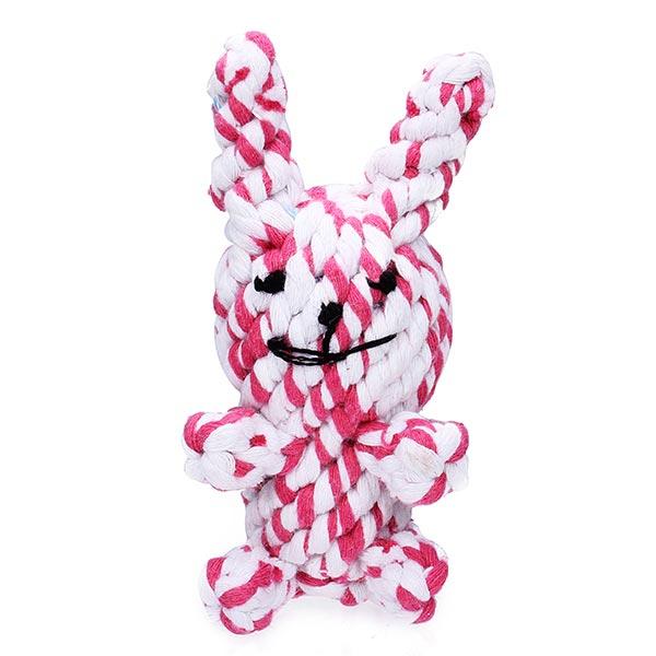 Baumwoll Strick Kaninchen Stil Chew Spielen Spielzeug für Haustiere Hunde Katzen Haustierzubehör
