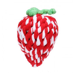 Cotton Knitted Strawberry Style Chew Play Toy for Pets Dogs Cats