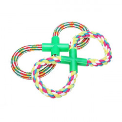 Cotton Rope with Figure 8 Style Chew Toy for Pets Dogs Cats