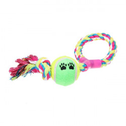 Cotton Rope with Figure Y Style Tennis Ball Toy for Pets Dogs Cats