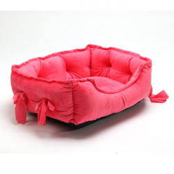 Cute Cotton Small Size Bowknot Cotton Pet Dog Cat Kennel Bed