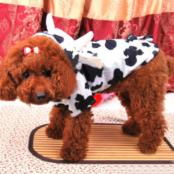 Nette Kuh weiche warme Hoodie Hundekostüm Hundemantel Overall