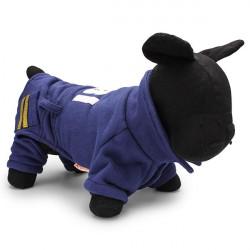 Netter FBI Cop Haustier Mantel Hundewinter Baumwolljacke Fleece