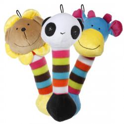 Cute Plush Pet Puppy Sound Lion Panda Giraffe Chew Squeaky Soft Toy