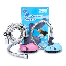 DELE Q-010-1 Pet Dog Cat Multifunction Massage Shower Sprayer Kit