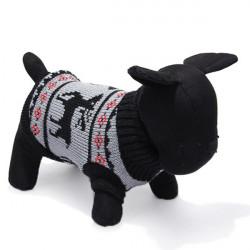 Deer Husdjur Hund Stickad Andningsbara Tröja Ytterkläder Apparel