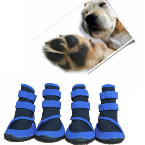 Dog Blue Waterproof Booties Prevent Paws Injury Shoes Pet Supplies