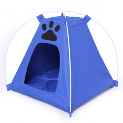 Dog Cat House Pet Waterproof Tent With Footprint House Kennel