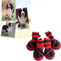 Dog Red Wasserdicht Booties Prevent Paws Verletzung Schuhe