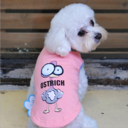 Hunde Vest Cotton Cartoon T Shirt Big Eyes Hemd Tierbedarf Kleidung